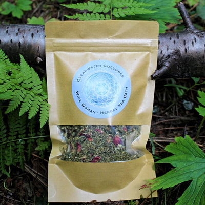 Wise Woman - Herbal Tea Bath - Organic & Medicinal - 1oz. - Clearwater Cultures
