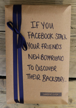 Buy this book if you Facebook stalk your friend's new boyfriend to discover their backstory