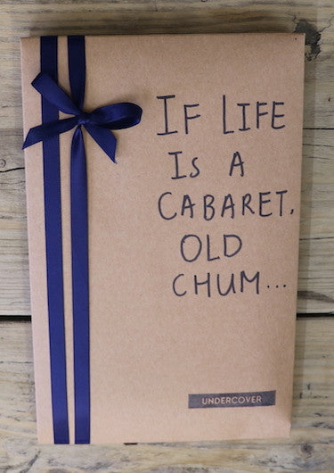 Buy this book if life is a cabaret, old chum