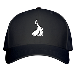 Fireboy Dad Hat W/ GoodWoodNYC 3D Emblem [Black Cotton]