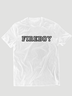 Fireboy College T-Shirt - White