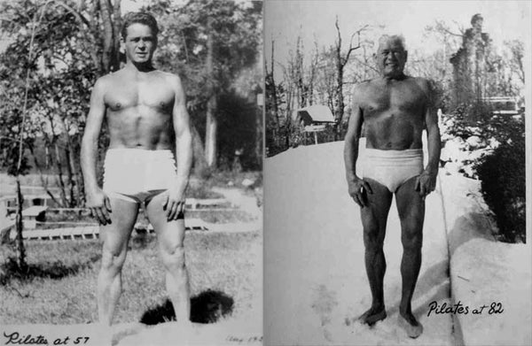 Joseph Pilates as a Young Man and Older Man