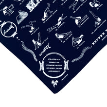 Pilates Gift for Clients, Mat Pilates Exercises on Bandana
