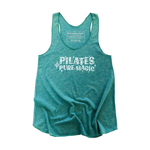 Pilates is Pure Magic Tank Top in Green