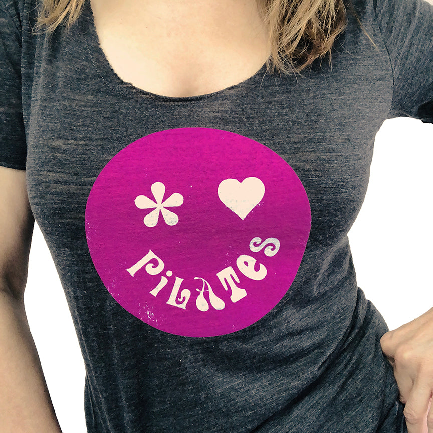 Model wearing our Pilates is Groovy Tee