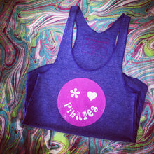 Purple Pilates Tank Top with Pilates Heart, Pilates Happy Face