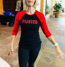 Pilates Red and Black Numbers Shirt