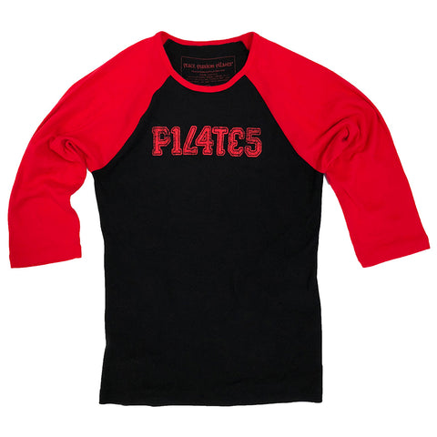 Pilates instructor gift t-shirt in red and black tee