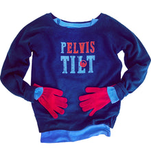 Pilates Pelvic Tilt Sweatshirt, Elvis Sweatshirt in Blue