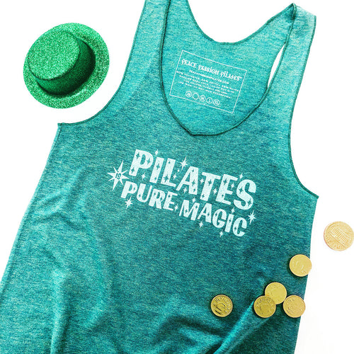 Pilates is Pure Magic Tank in Green-Ships Free in US