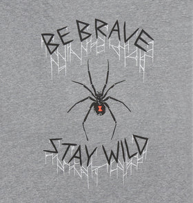 Be Brave Stay Wild Black Widow Tee