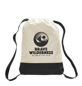 Brave Wilderness Drawstring Bag