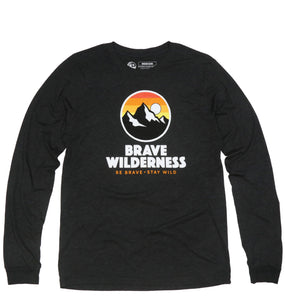 Brave Wilderness Logo L/S Tee - Charcoal Triblend