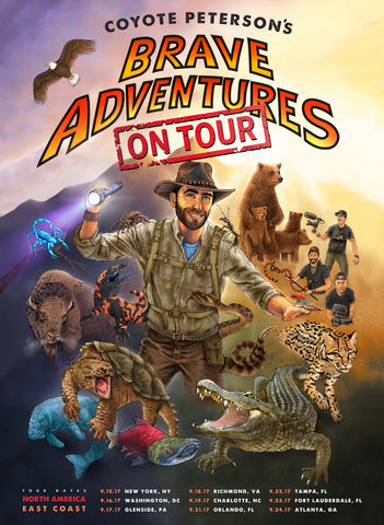 Brave Adventures East Coast Tour Poster