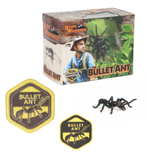 Bullet Ant Figurine, Patch, & Sticker Set