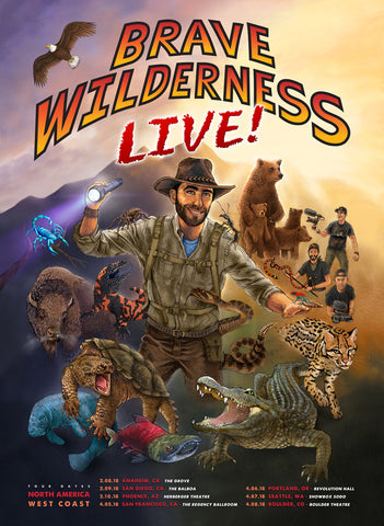 Brave Wilderness Live - West Coast Tour Poster