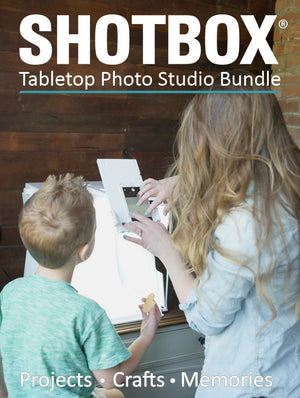 The SHOTBOX Tabletop Photo Studio Bundle - Includes Add-On Bundle - SHOTBOX