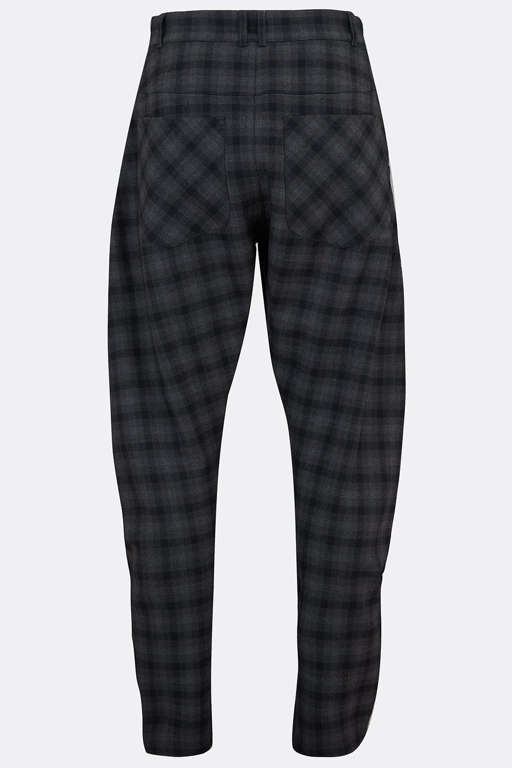 APACHE TROUSERS IN BLACK AND GREY CHECK-menswear-A Child Of The Jago