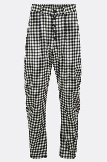 APACHE TROUSERS IN BLACK AND WHITE CHECK-menswear-A Child Of The Jago
