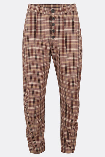 APACHE TROUSERS IN BROWN CHECK-menswear-A Child Of The Jago