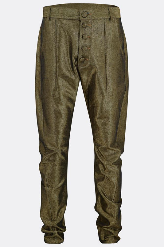 APACHE TROUSERS IN GOLD DENIM-menswear-A Child Of The Jago