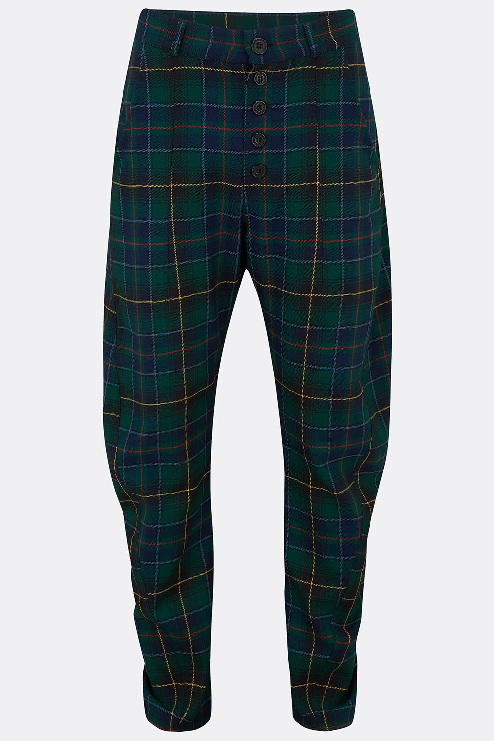 APACHE TROUSERS IN GREEN NAVY CHECK-menswear-A Child Of The Jago