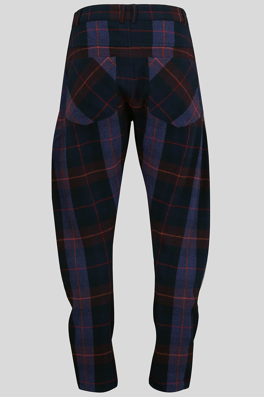 APACHE TROUSERS IN PURPLE CHECK-menswear-A Child Of The Jago