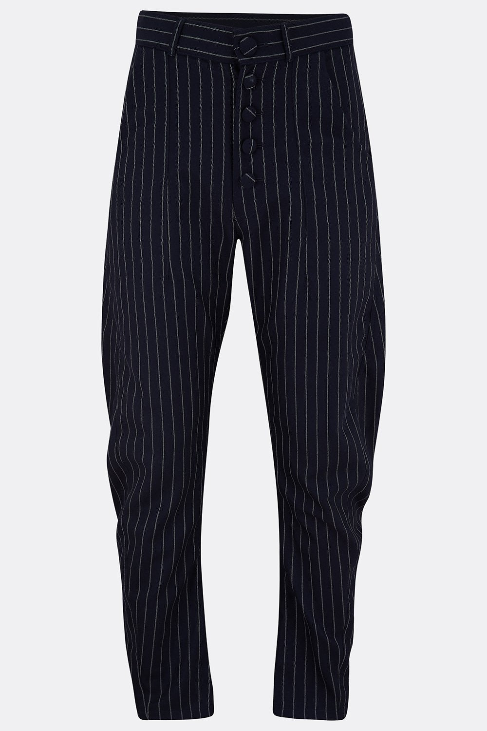 APACHE TROUSERS - NAVY ROPE STRIPE-menswear-A Child Of The Jago