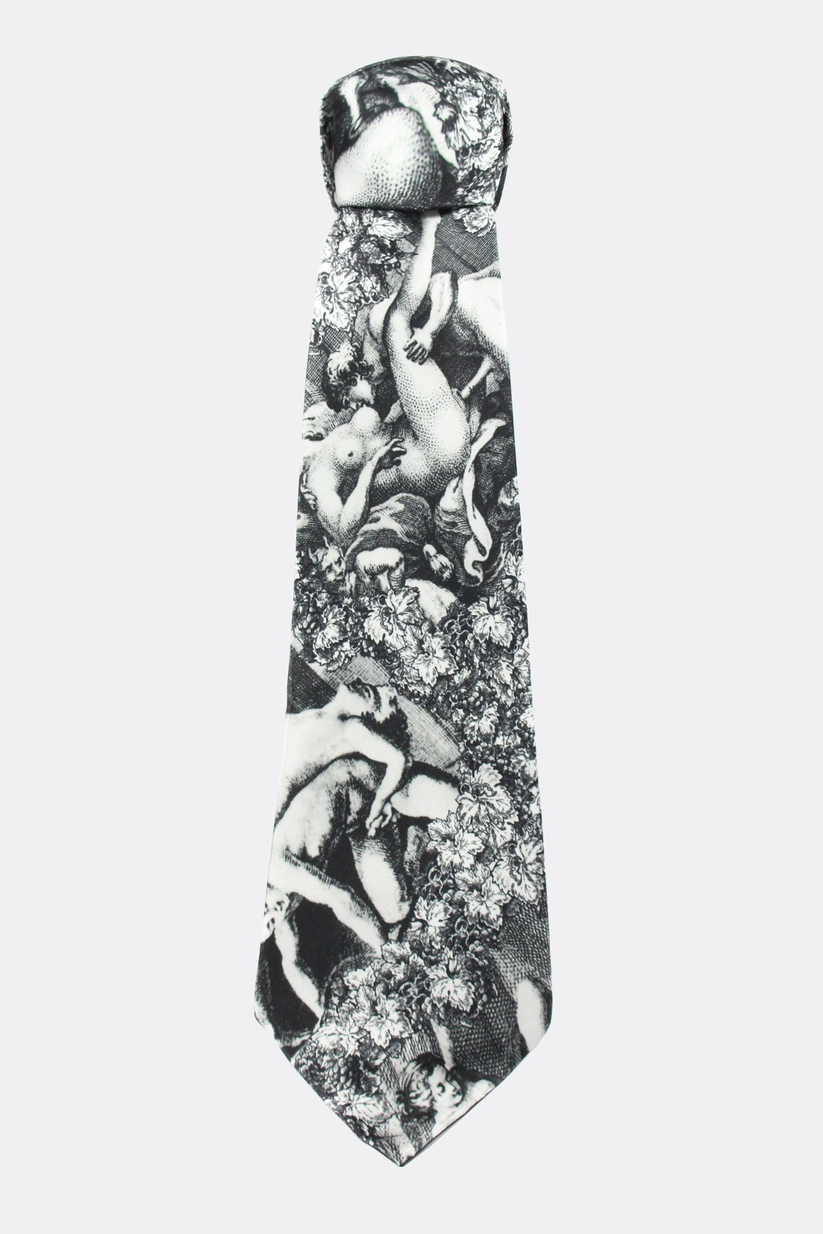 ARCADIA SILK TIE IN BLACK AND WHITE-accessories-A Child Of The Jago