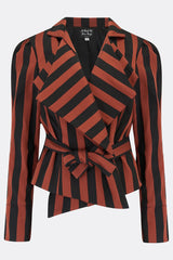ARTEMIS JACKET IN ORANGE STRIPE-womenswear-A Child Of The Jago