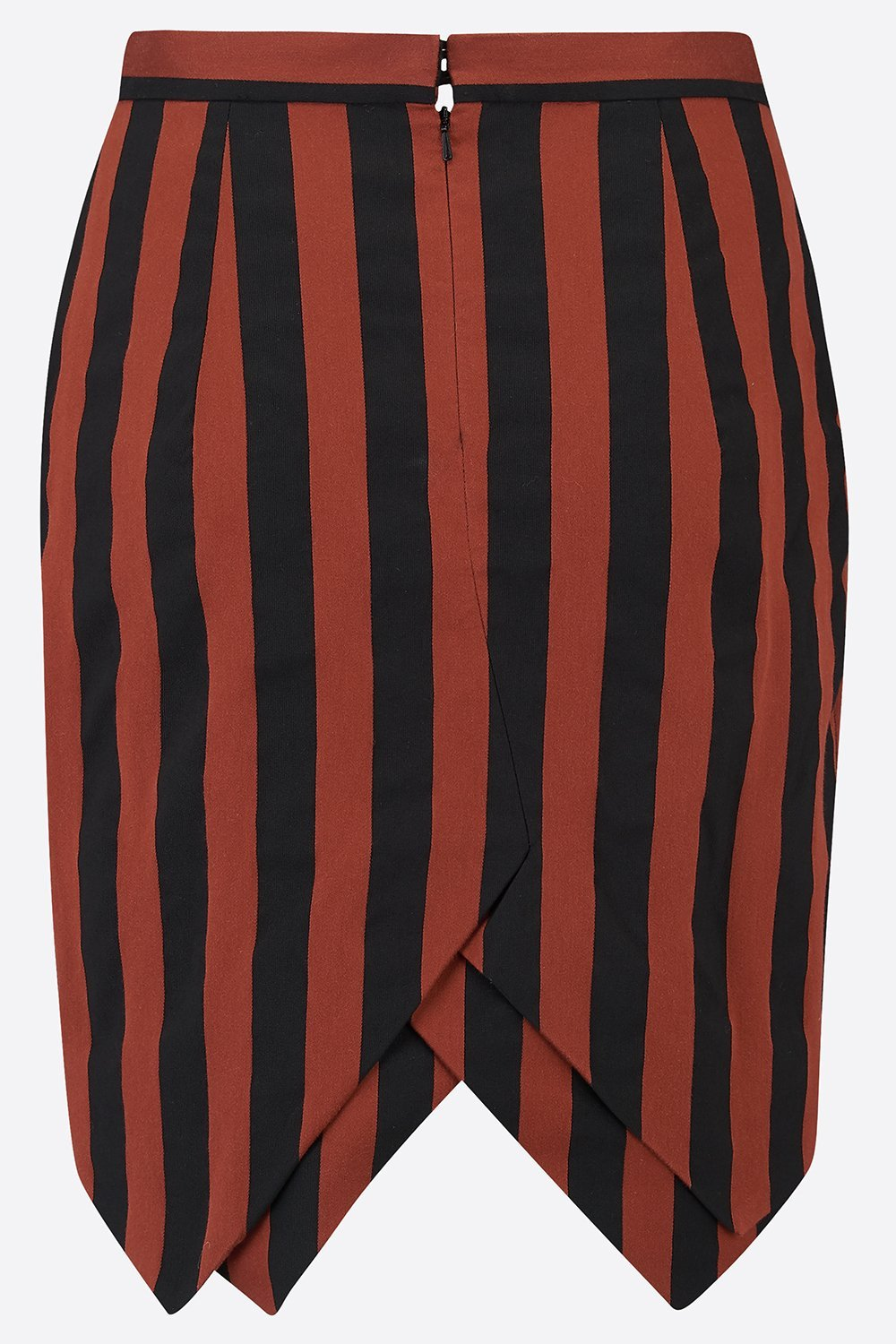 ARTEMIS SKIRT IN ORANGE STRIPE-womenswear-A Child Of The Jago