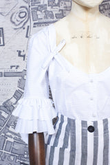 BERGERE BLOUSE IN WHITE COTTON-womenswear-A Child Of The Jago