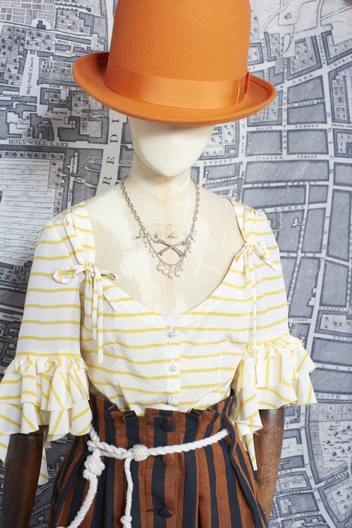 BERGERE BLOUSE IN YELLOW SILK-womenswear-A Child Of The Jago