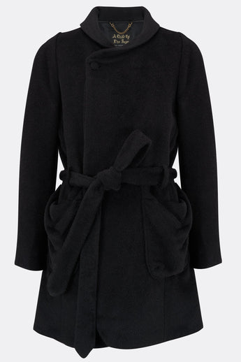 BOB TROTTER COAT IN BLACK ALPACA-menswear-A Child Of The Jago