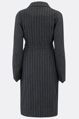 BOB TROTTER DRESS IN CHALK STRIPE-womenswear-A Child Of The Jago