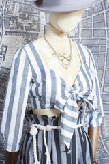 BONNY CROP TOP IN WHITE AND GREY STRIPE-womenswear-A Child Of The Jago