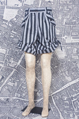 BONNY SHORTS IN GREY AND BLACK STRIPE-womenswear-A Child Of The Jago