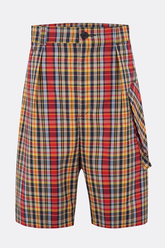 CAROUSEL CHECK COTTON SHORTS-menswear-A Child Of The Jago