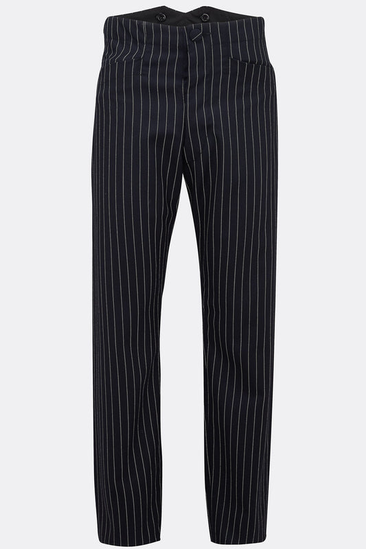 CAVALRY TROUSERS IN NAVY ROPE STRIPE-menswear-A Child Of The Jago