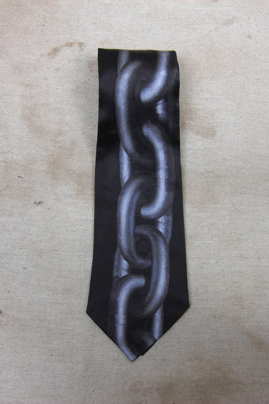 CHAIN SILK TIE-accessories-A Child Of The Jago