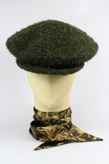 CHANG CHEESE CUTTER HAT IN DARK MOSS GREEN WOOL-hats-A Child Of The Jago