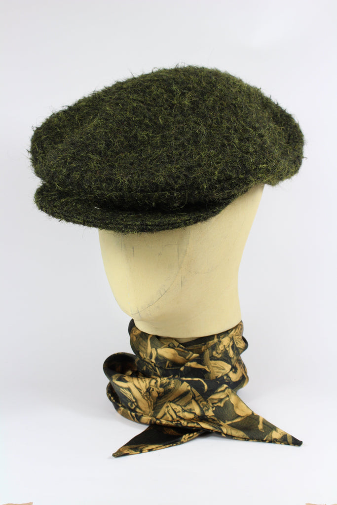 253b46ea462 CHANG CHEESE CUTTER HAT IN DARK MOSS GREEN WOOL – A Child Of The Jago