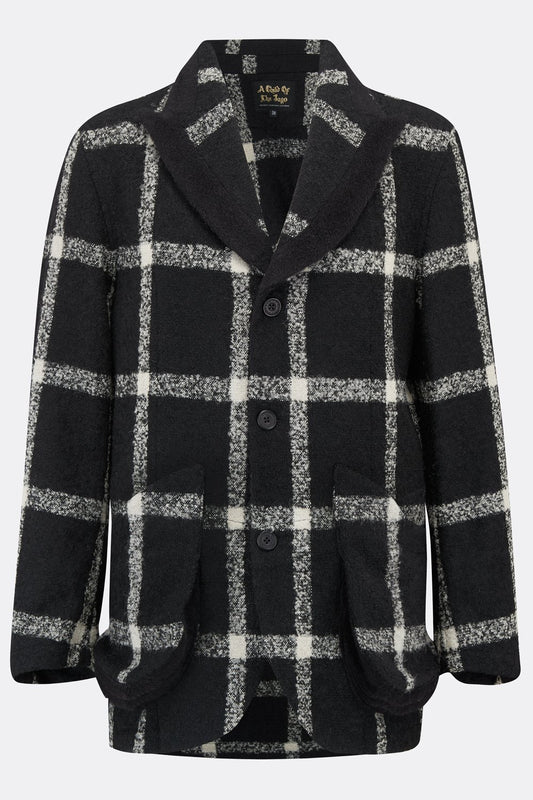 CLERKENWELL JACKET IN BLACK AND WHITE CHECK-menswear-A Child Of The Jago