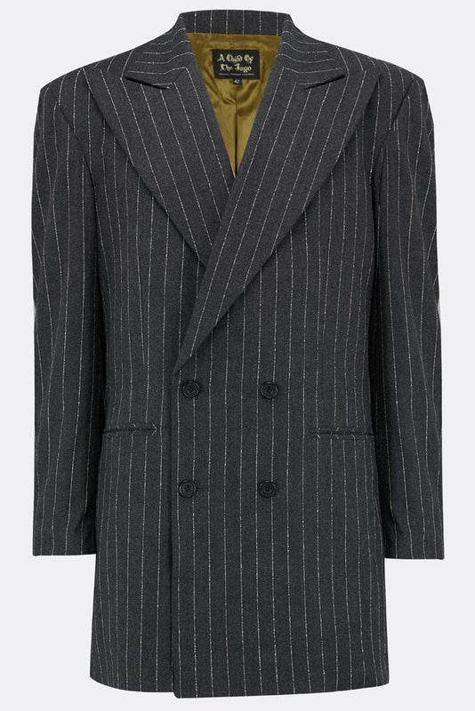 DILLINGER JACKET IN CHALK STRIPE-menswear-A Child Of The Jago