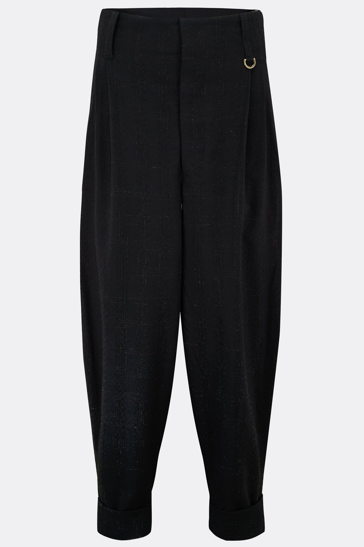 DILLINGER TROUSERS IN BLACK WOOL-menswear-A Child Of The Jago
