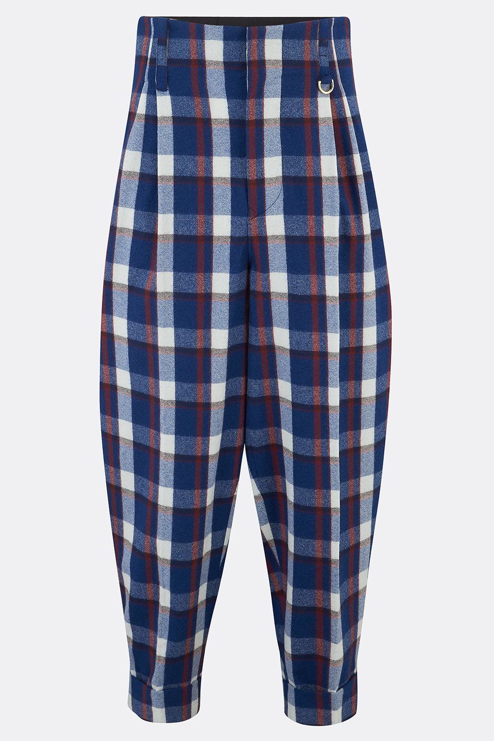 DILLINGER TROUSERS IN BLUE WHITE CHECK-menswear-A Child Of The Jago