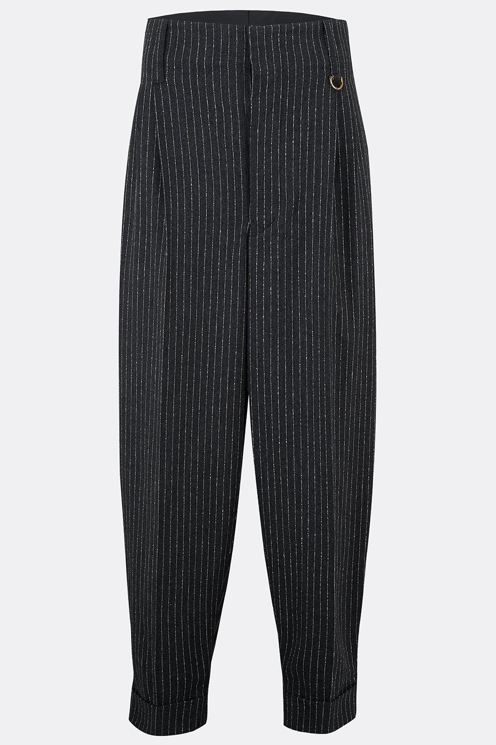 DILLINGER TROUSERS IN CHALK STRIPE-menswear-A Child Of The Jago