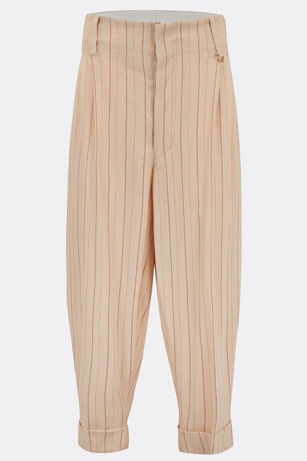 DILLINGER TROUSERS IN CREAM AND ORANGE STRIPE-menswear-A Child Of The Jago