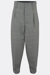 DILLINGER TROUSERS IN PRINCE OF WALES CHECK-menswear-A Child Of The Jago