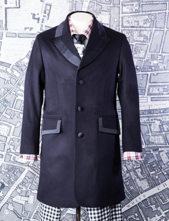 DIMBER DAMBER COAT IN BLACK MELTON-menswear-A Child Of The Jago